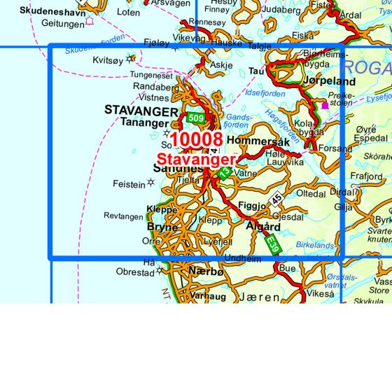 Map area for Stavanger  map