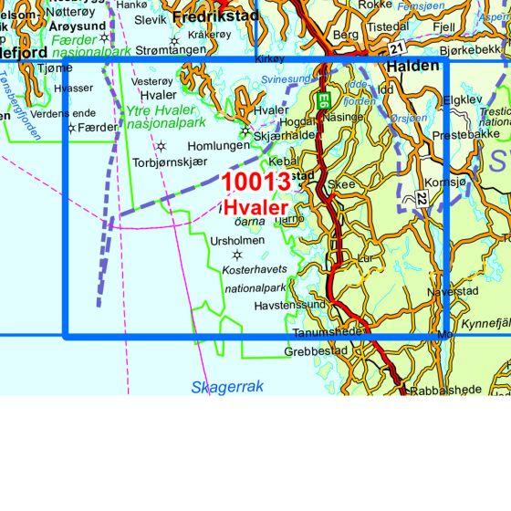 Dekningsområdet Hvaler kartet