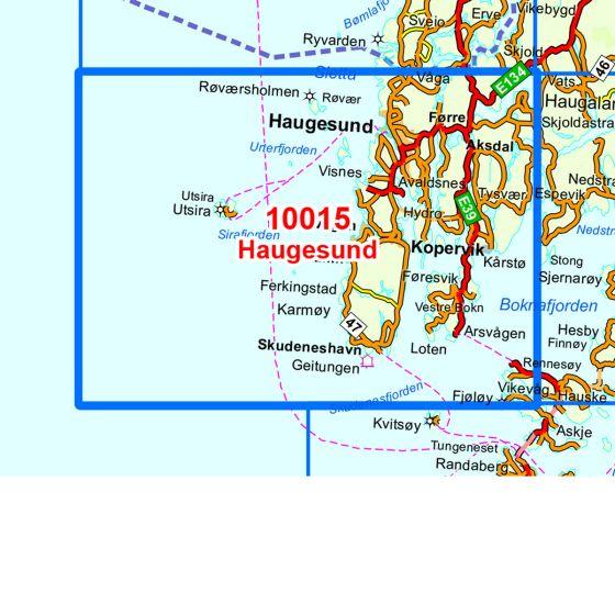 Kartenabdeckung fürt Haugesund karte