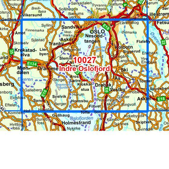 Kartenabdeckung fürt Indre Oslofjord karte