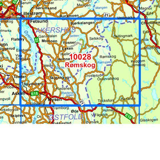 Dekningsområdet Rømskog kartet