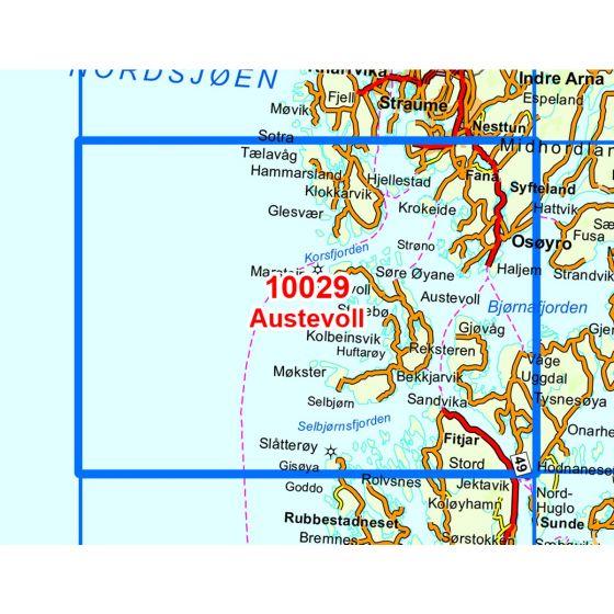 Kartenabdeckung fürt Austevoll karte
