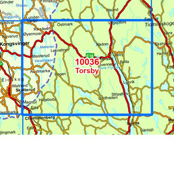 Map area for Torsby  map