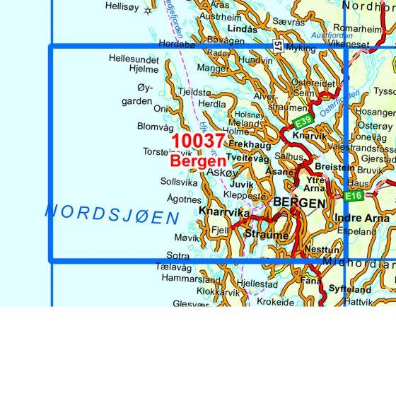 Kartenabdeckung fürt Bergen karte