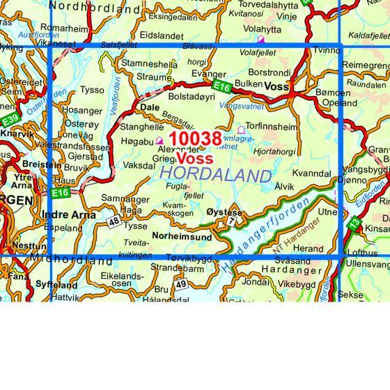 Kartenabdeckung fürt Voss karte