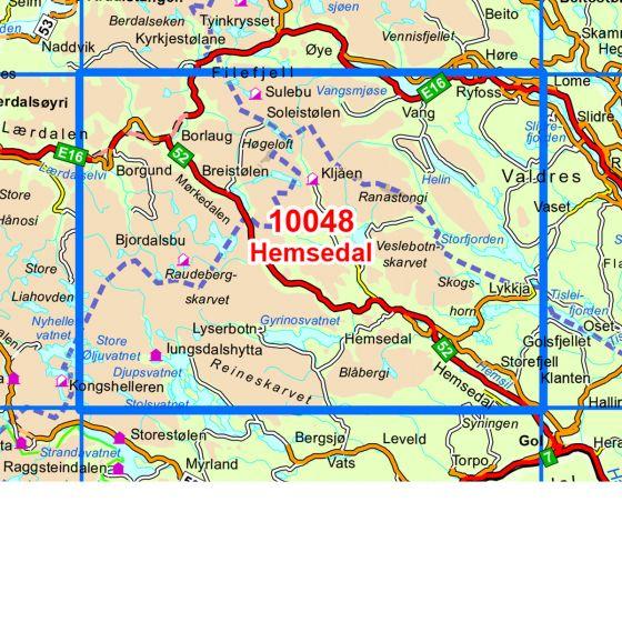 Dekningsområdet Hemsedal kartet