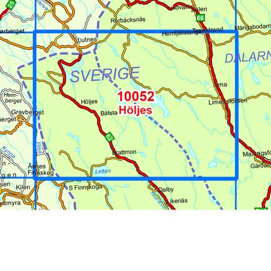 Map area for Höljes  map