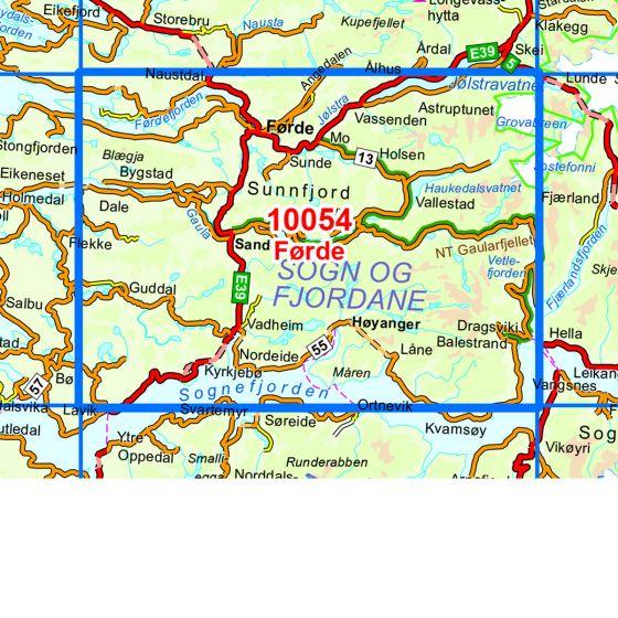 Map area for Førde  map