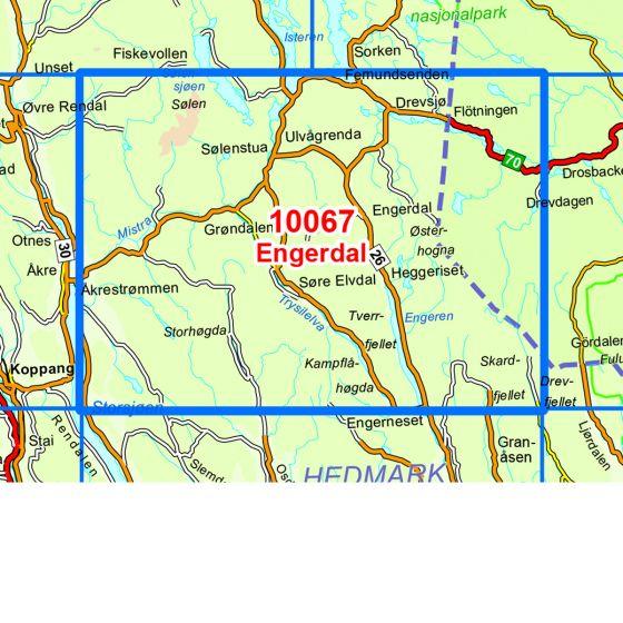 Map area for Engerdal  map