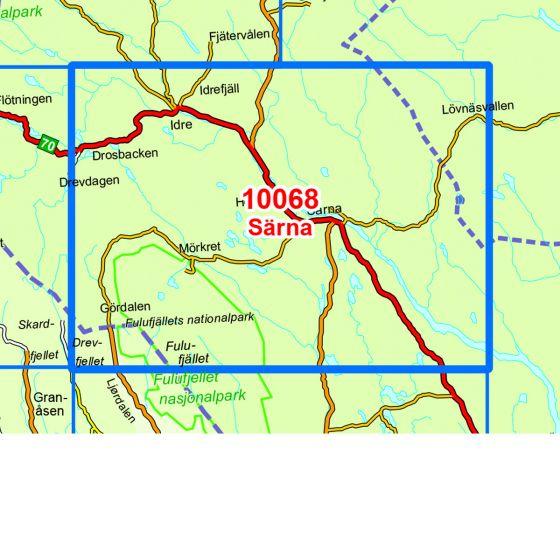 Map area for Särna  map