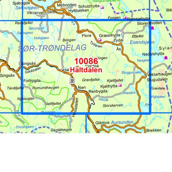 Map area for Haltdalen  map