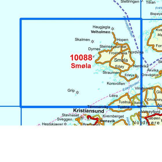 Kartenabdeckung fürt Smøla karte