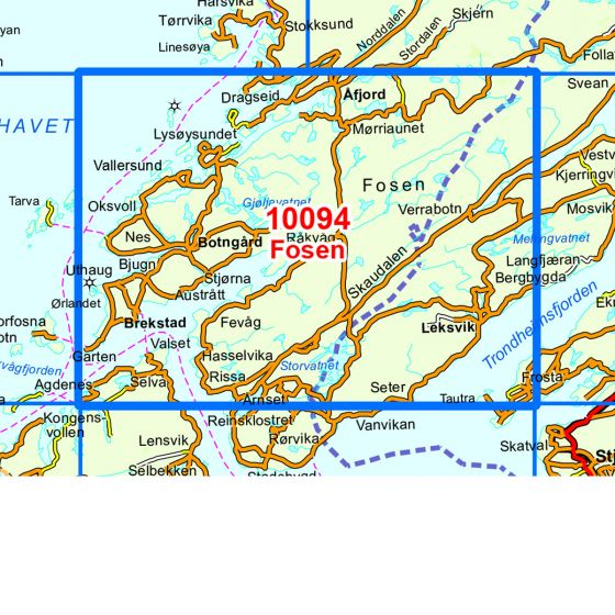Map area for Fosen  map