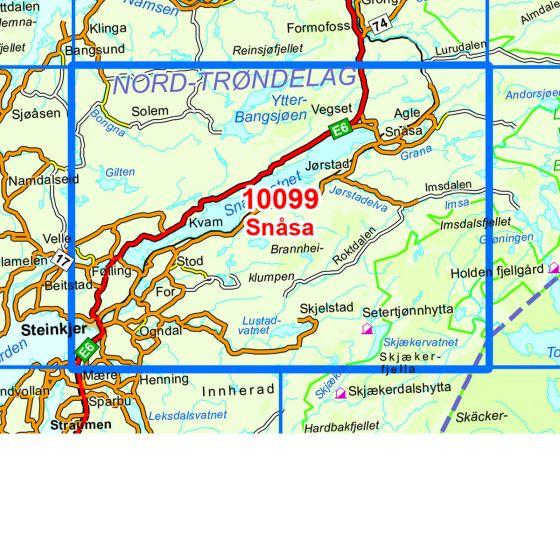 Kartenabdeckung fürt Snåsa karte