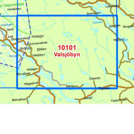 Map area for Valsjöbyn  map
