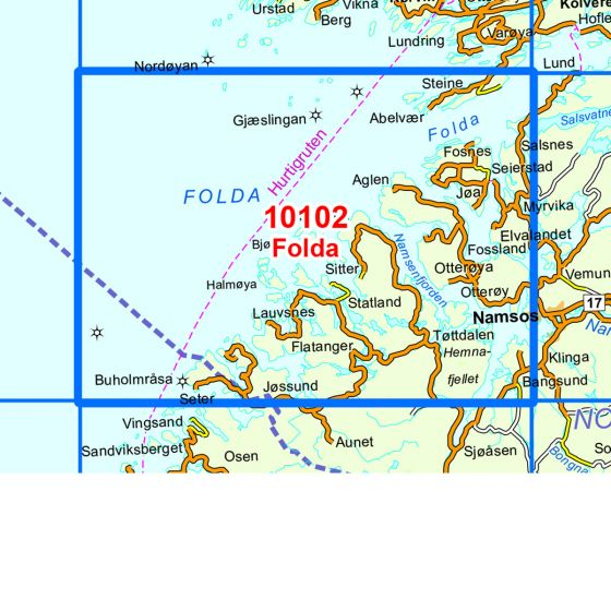 Map area for Folda  map