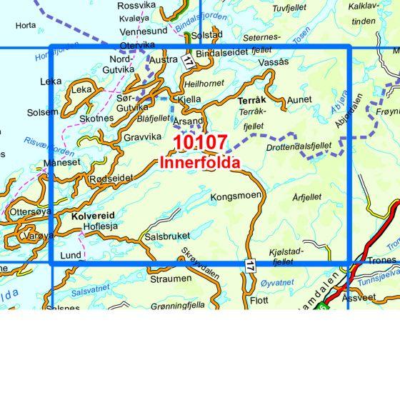 Map area for Innerfolda  map
