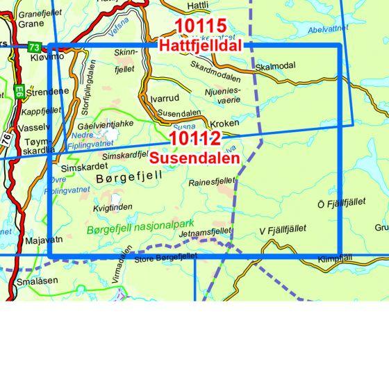 Kartenabdeckung fürt Susendalen karte