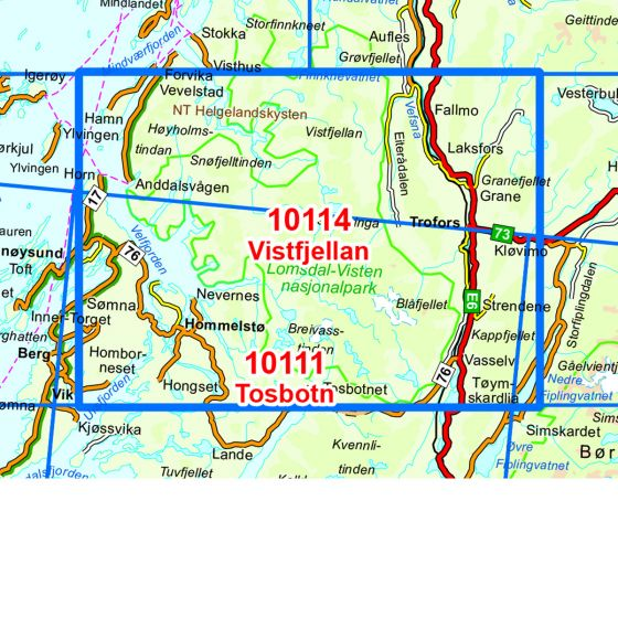 Dekningsområdet Lomsdal Visten kartet