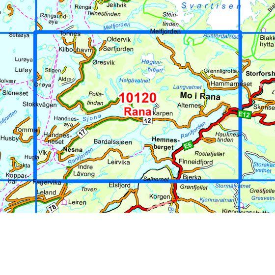Kartenabdeckung fürt Rana karte