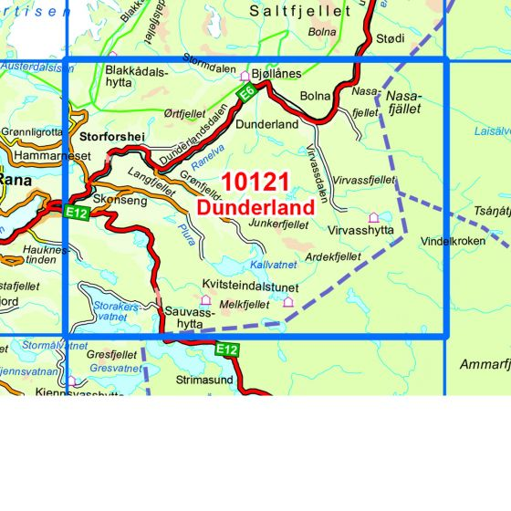 Kartenabdeckung fürt Dunderland karte