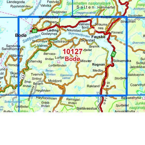 Dekningsområdet Bodø kartet