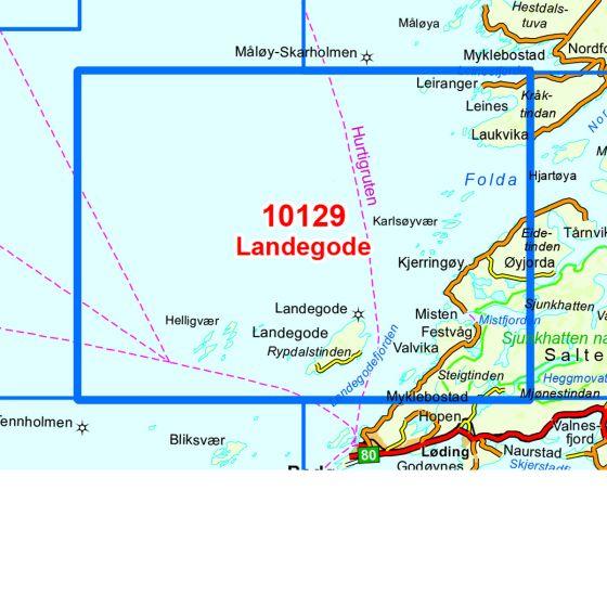 Map area for Landegode  map