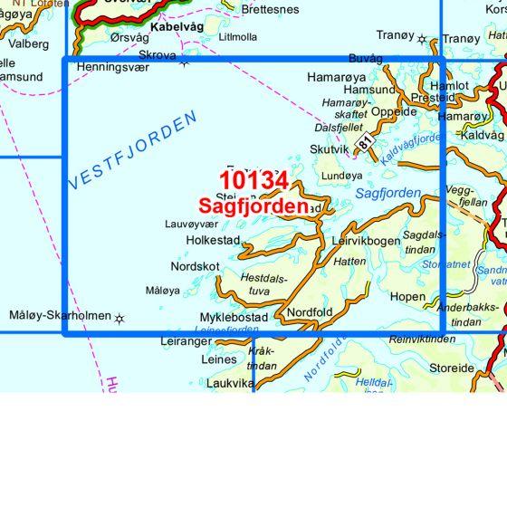Map area for Sagfjorden  map