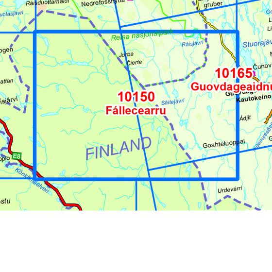 Map area for Fallecearru  map