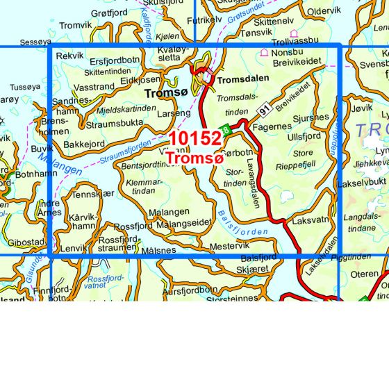 Kartenabdeckung fürt Tromsø karte