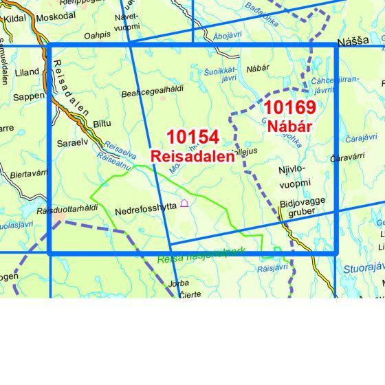 Dekningsområdet Reisadalen kartet