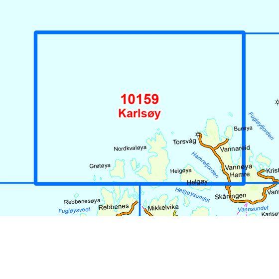 Kartenabdeckung fürt Karlsøy karte