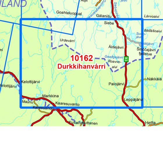 Kartenabdeckung fürt Durkkihanvarri karte