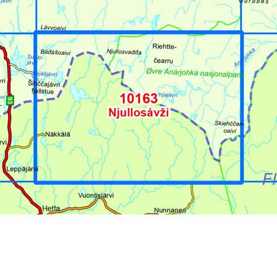 Kartenabdeckung fürt Njullosavzi karte