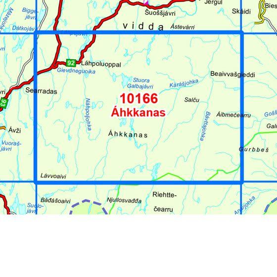 Map area for Ahkkanas  map