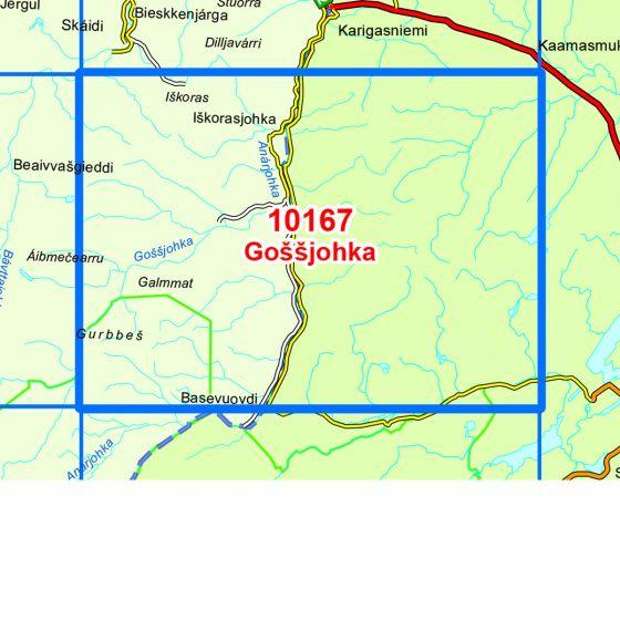Kartenabdeckung fürt Gossjohka karte