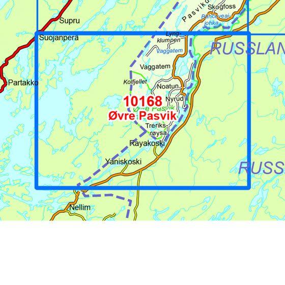 Map area for Øvre Pasvik  map