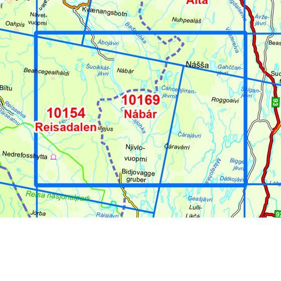 Dekningsområdet Nabar kartet