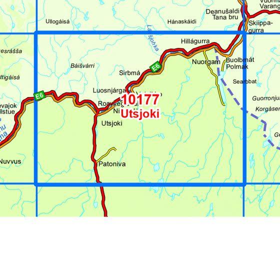 Map area for Utsjoki  map