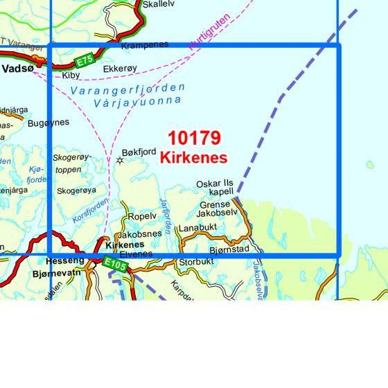 Kartenabdeckung fürt Kirkenes karte