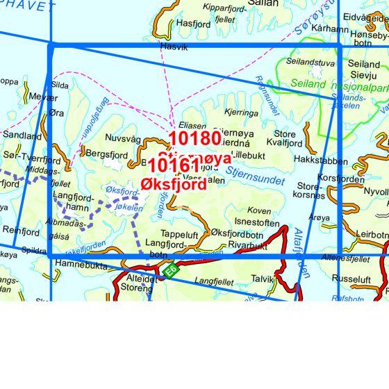 Map area for Stjernøya  map