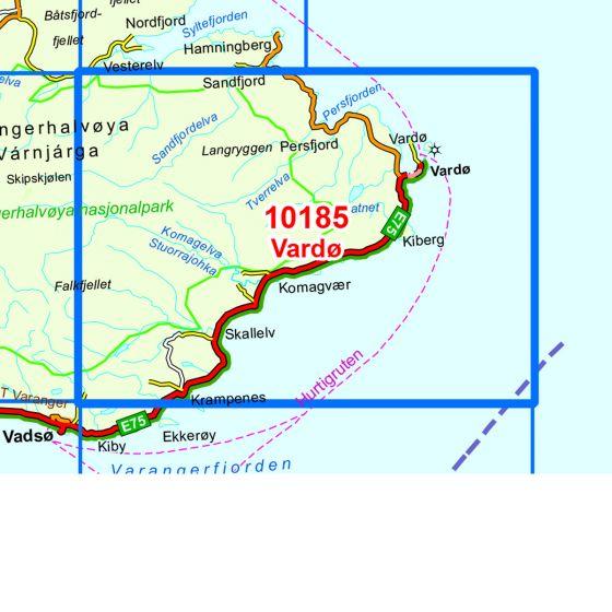 Dekningsområdet Vardø kartet