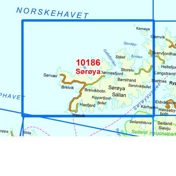 Map area for Sørøya  map