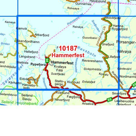 Kartenabdeckung fürt Hammerfest karte