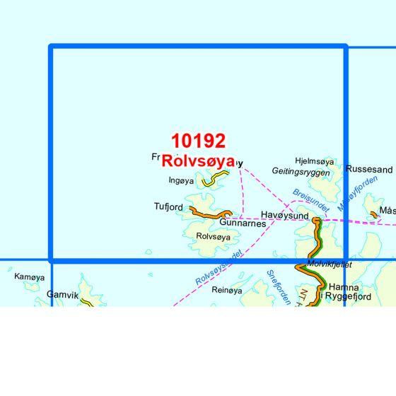 Kartenabdeckung fürt Rolvsøya karte