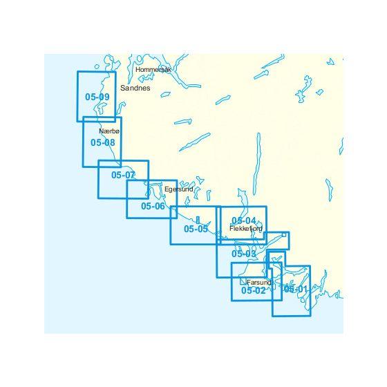Dekningsområdet 05-Lindesnes-Kolnesholmane-Tananger kartet