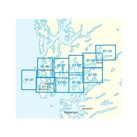 Dekningsområdet 07-Utsira-Sjernarøyane-Sauda kartet