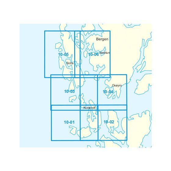 Dekningsområdet 10-Selbjørnsfjorden-Bergen kartet