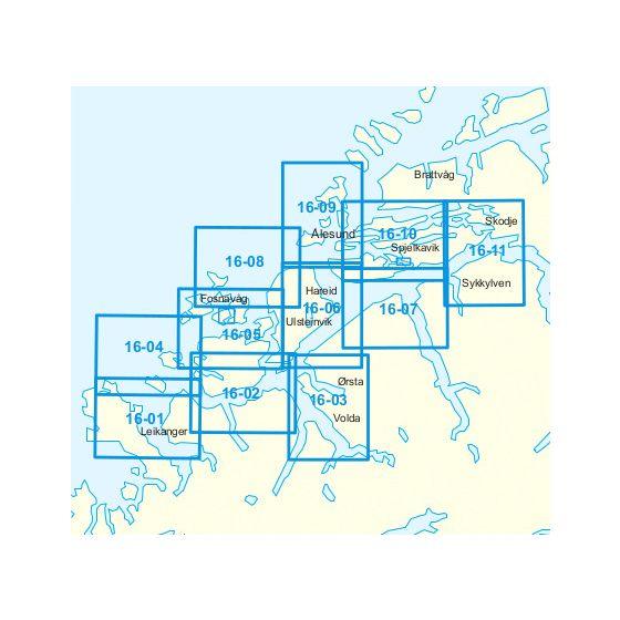 Dekningsområdet 16-Stad-Ålesund kartet