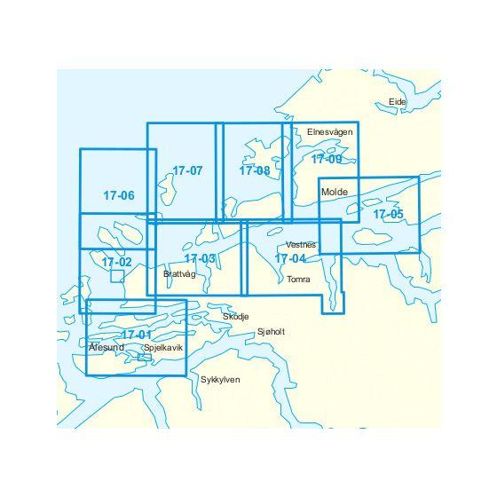 Dekningsområdet 17-Ålesund-Molde kartet